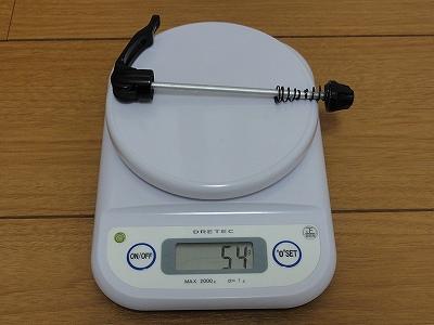 クイックレリーズ フロント カンパニョーロ 実測重量