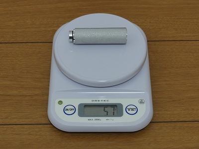 フレーム付属のプレッシャーアンカー 実測重量