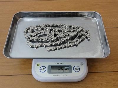 チェーン カンパ コーラス 11s 実測重量