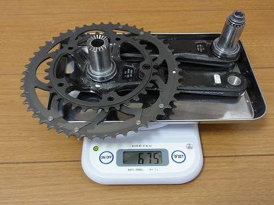 コンパクトクランクセット カンパ コーラス 34/50 170mm 実測重量