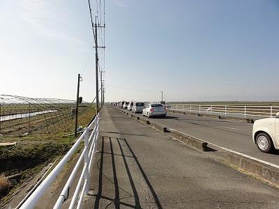 佐賀空港付近 大渋滞