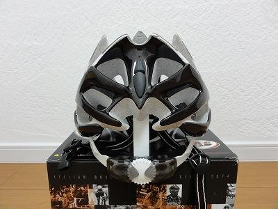 Las Victory ヘルメット CAT-EYES EVO system 伸ばした後