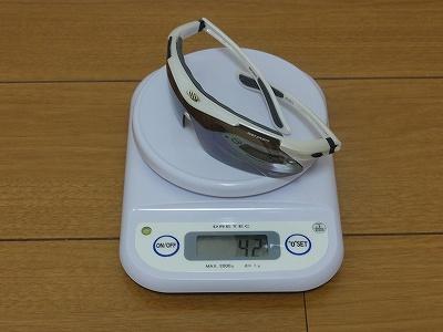 度付きスポーツサングラス 実測重量