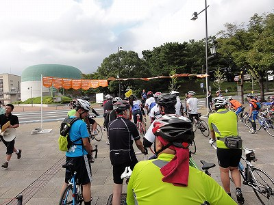 サイクルツアー北九州2013 スタート直前