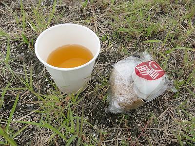 サイクルツアー北九州2013 第2エイドポイント 北九州空港 提供された食べ物