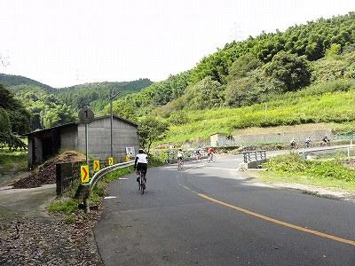 サイクルツアー北九州2013 合馬の峠 第1カーブ