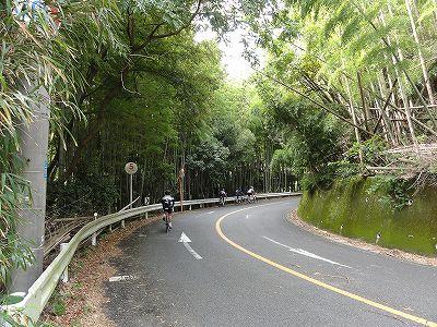 サイクルツアー北九州2013 合馬の峠 第5カーブ