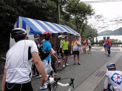 サイクルツアー北九州2013 第3エイドポイント 河内貯水池