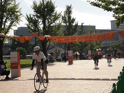 サイクルツアー北九州2013 ゴール風景