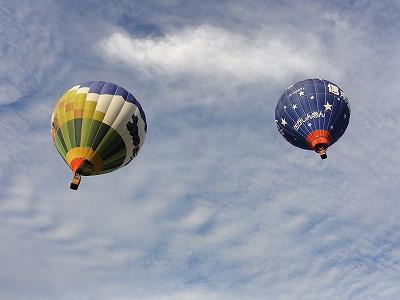 バルーンフェスタ2013 離陸後の上空