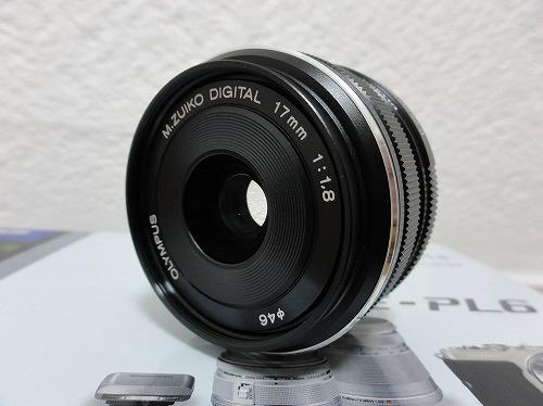 オリンパス M.ZUIKO DIGITAL 17mm F1.8 前面