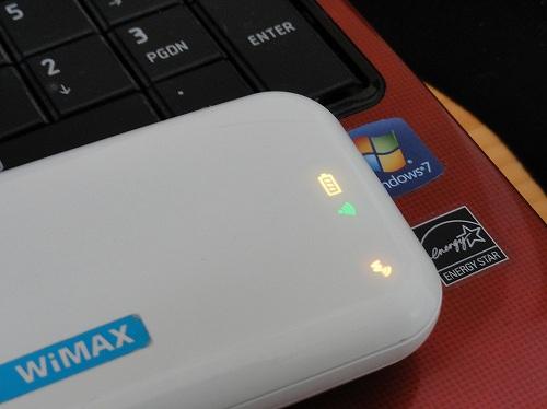 Try WiMAX 自宅の電波状況 強度 中