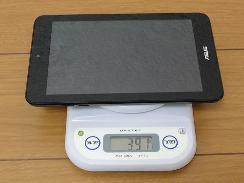 ASUSU VivoTab Note 8 実測重量 計測