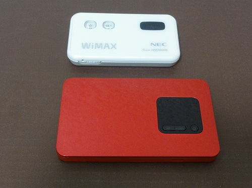 WX01 WM3800R 比較 大きさ WiMAX2+