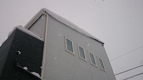 屋根の積雪 2016冬 大雪 佐賀