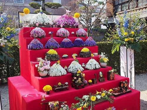 佐賀城下ひなまつり 2014 花びな