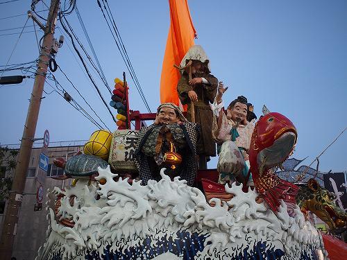 2015年 佐賀城下栄の国まつり 山車 七福神 宝船