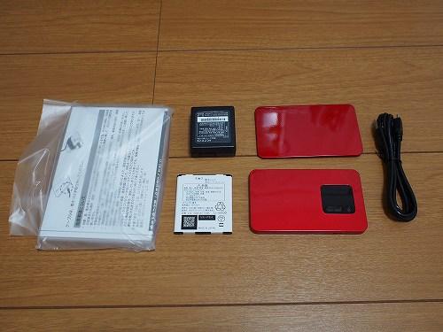 WiMAX2+ 端末 NEC WX01 中身 内容 同封品