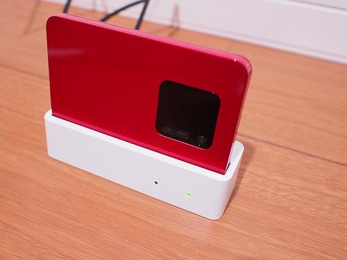 WiMAX2+ 端末 NEC WX01 クレードル 充電中