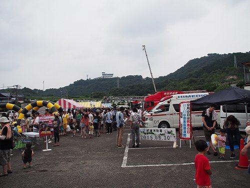 乗り物展示会場 たけ丸サマーフェスティバル2015 たけお競輪
