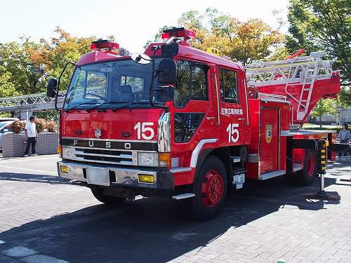 ばぶばぶフェスタ はしご車 佐賀市消防局